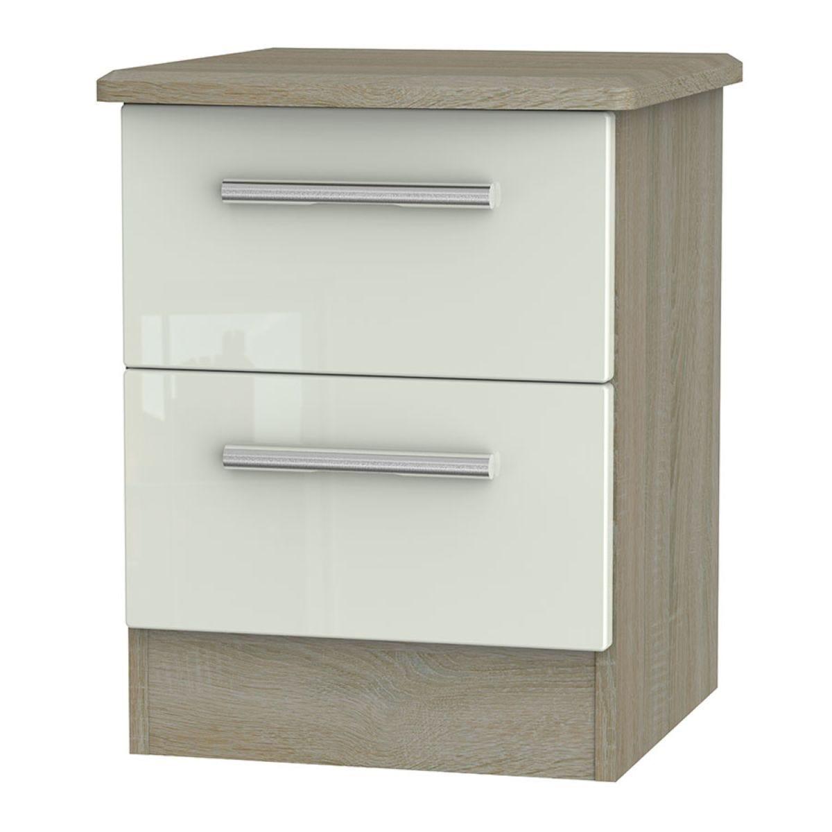 Kirkhill 2-Drawer Bedside Table - Taupe Cedar