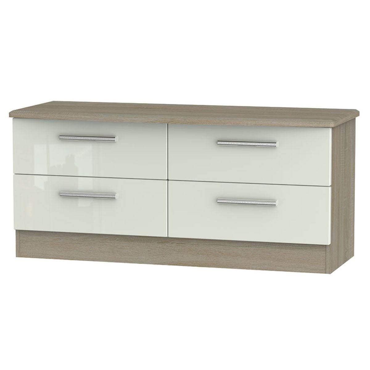 Kirkhill 4-Drawer Midi Chest of Drawers - Taupe Cedar