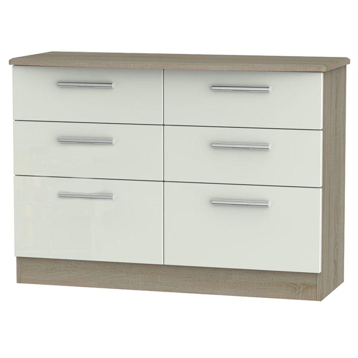 Kirkhill 6-Drawer Midi Chest of Drawers - Taupe Cedar