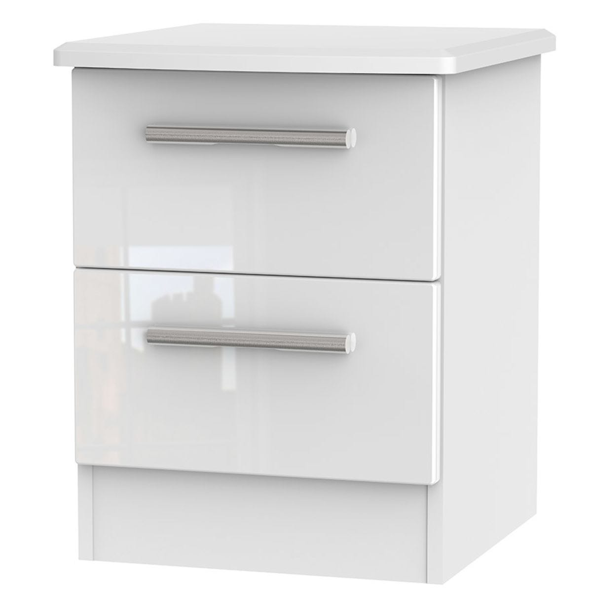 Fourisse 2-Drawer Bedside Table - White