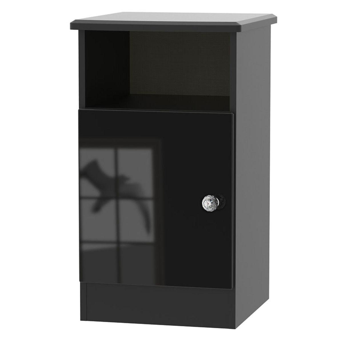 Tedesca 1-Door Bedside Table - Black