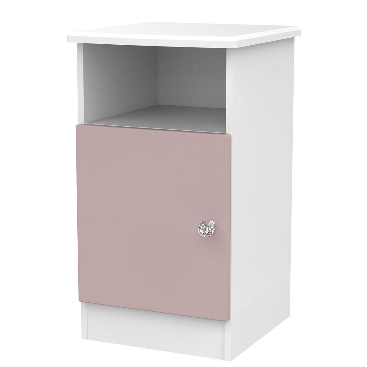 Tedesca 1-Door Bedside Table - Pink