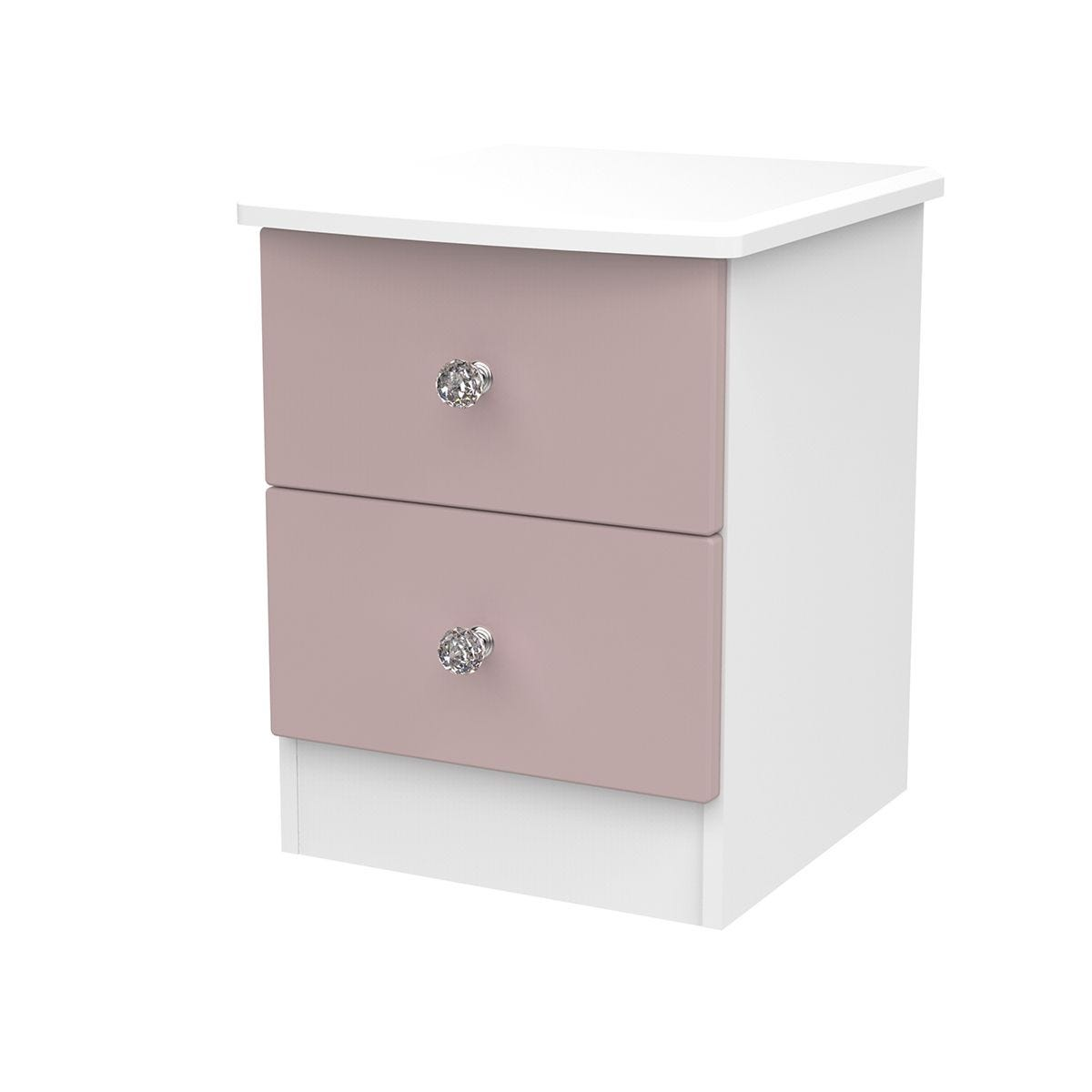Tedesca 2-Drawer Bedside Table - Pink