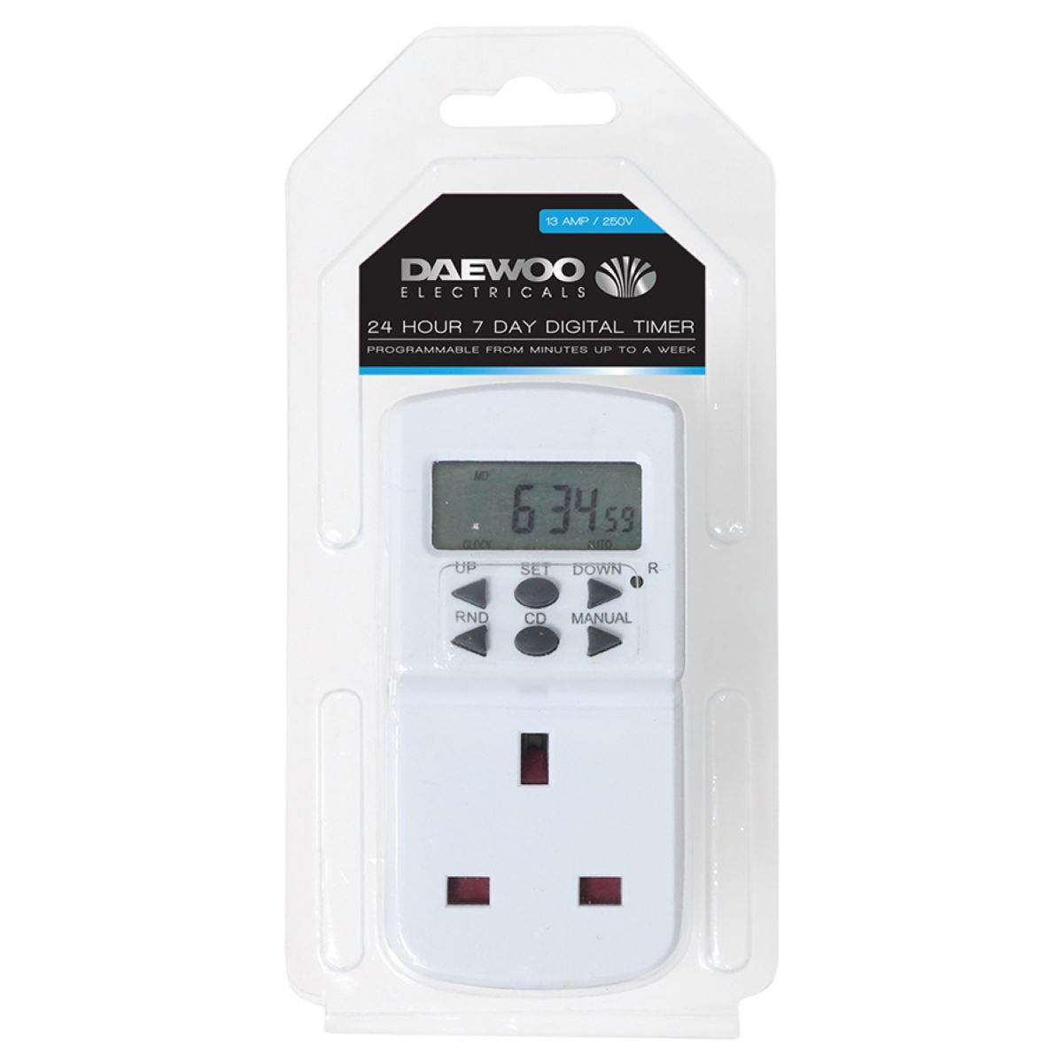 Daewoo 24/7 Digital Timer - 13 Amp