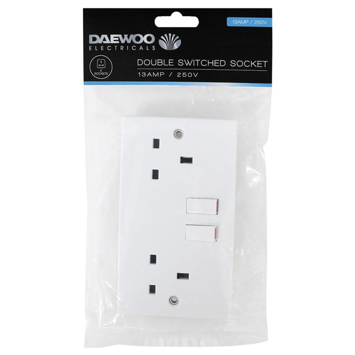 Daewoo Double-Switched Socket - 13 Amp