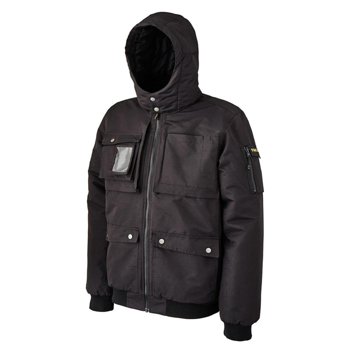 Stanley Workwear Toledo Bomber Waterproof Jacket with Multiple Tool Pockets - Black
