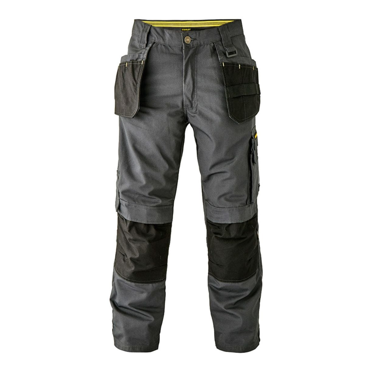 Stanley Workwear Newark Tradesman Trousers with Knee Pad Pouches 31 Inch Leg - Grey
