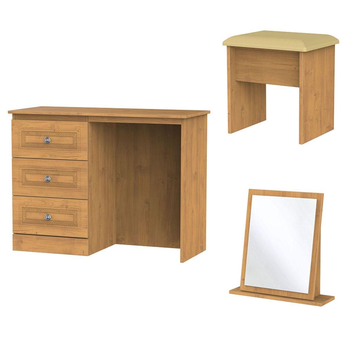 Otega 3-Piece Dressing Table Set - Oak