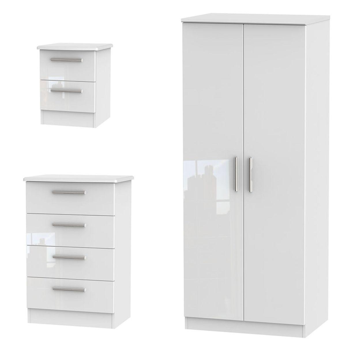 Fourisse 3-Piece Bedroom Set - White