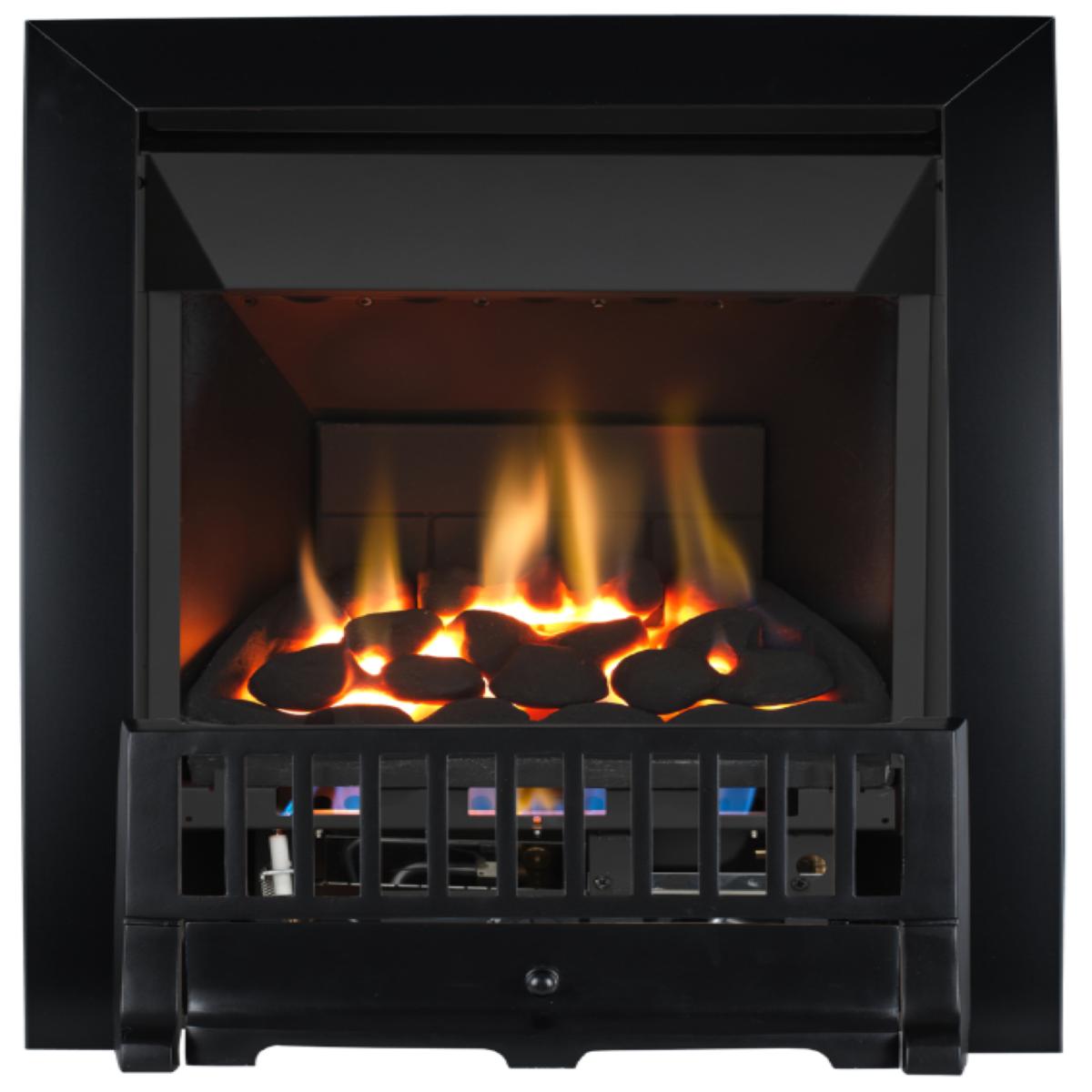 Focal Point Fires Farlam High Efficiency Gas Fire - Black