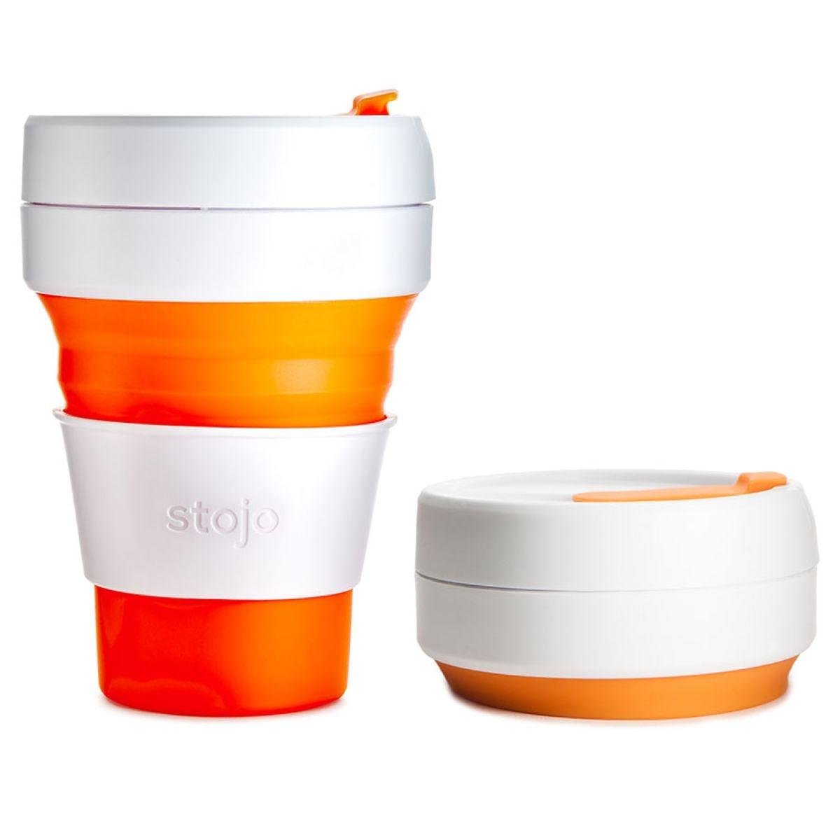 Stojo Collapsible Pocket Cup - Orange
