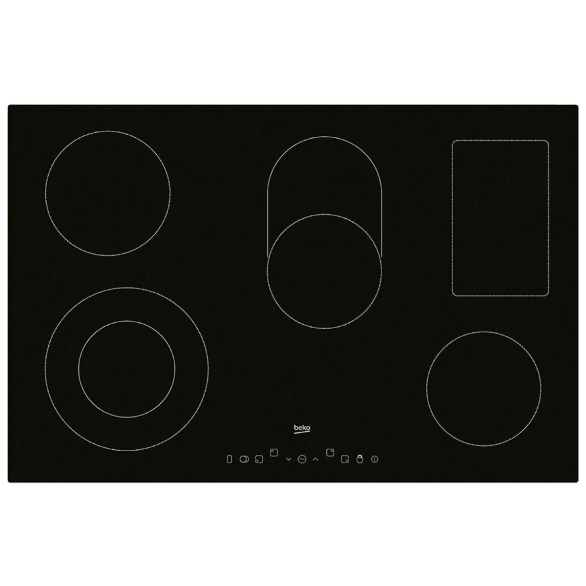 Beko HIC85402T Electric Hob with Touch Control - Black