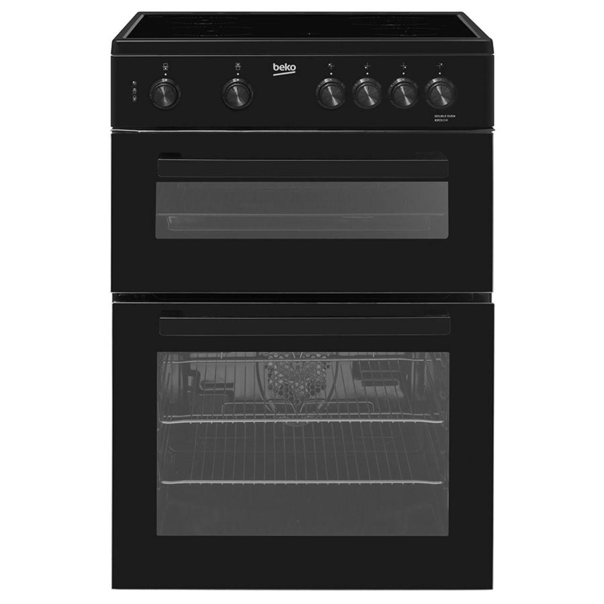 Beko Freestanding KDC611K Double Oven 105L Ceramic Cooker - Black