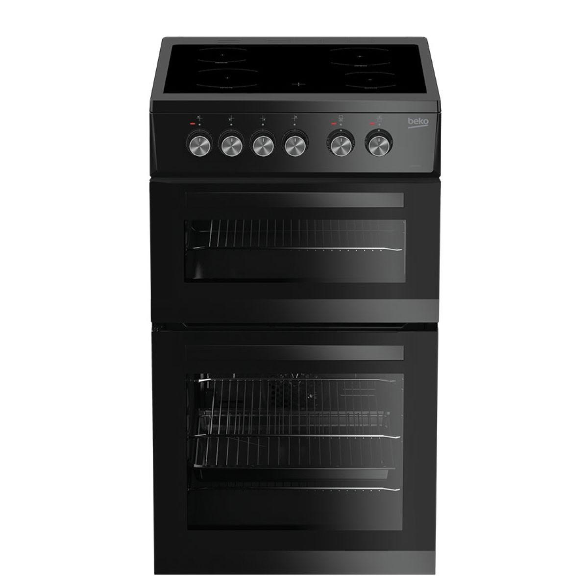 Beko KDVC563AK Double Oven Electric Cooker - Black