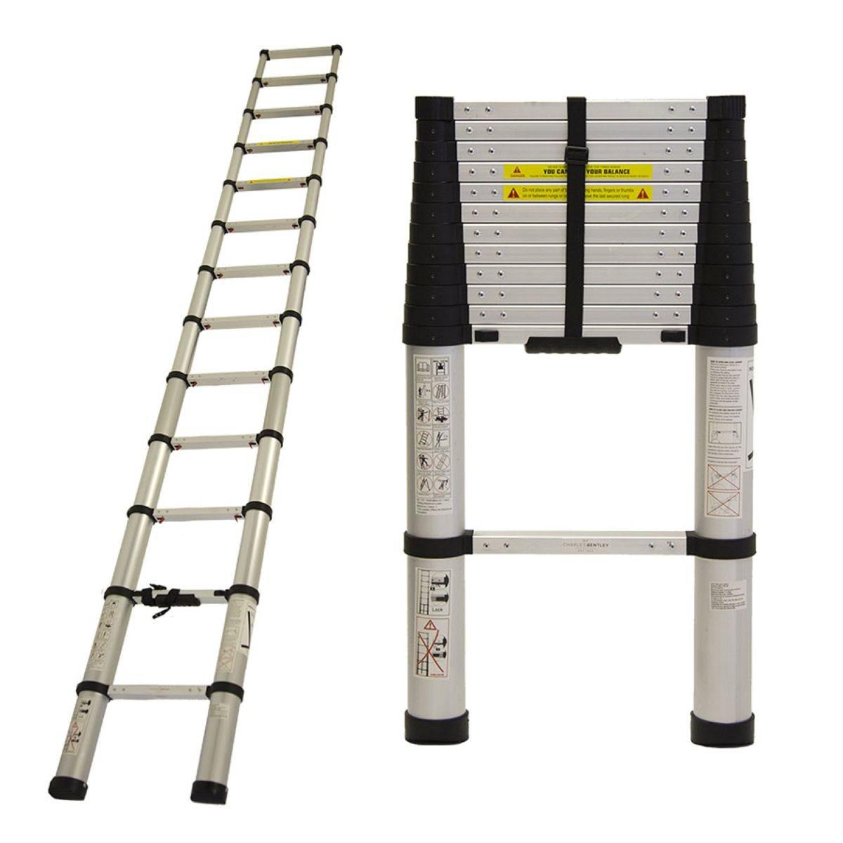 Charles Bentley 3.8m Telescopic Ladder
