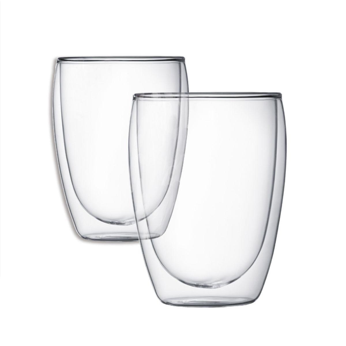Bodum Double-Walled Pavina Glass Mug - Pair