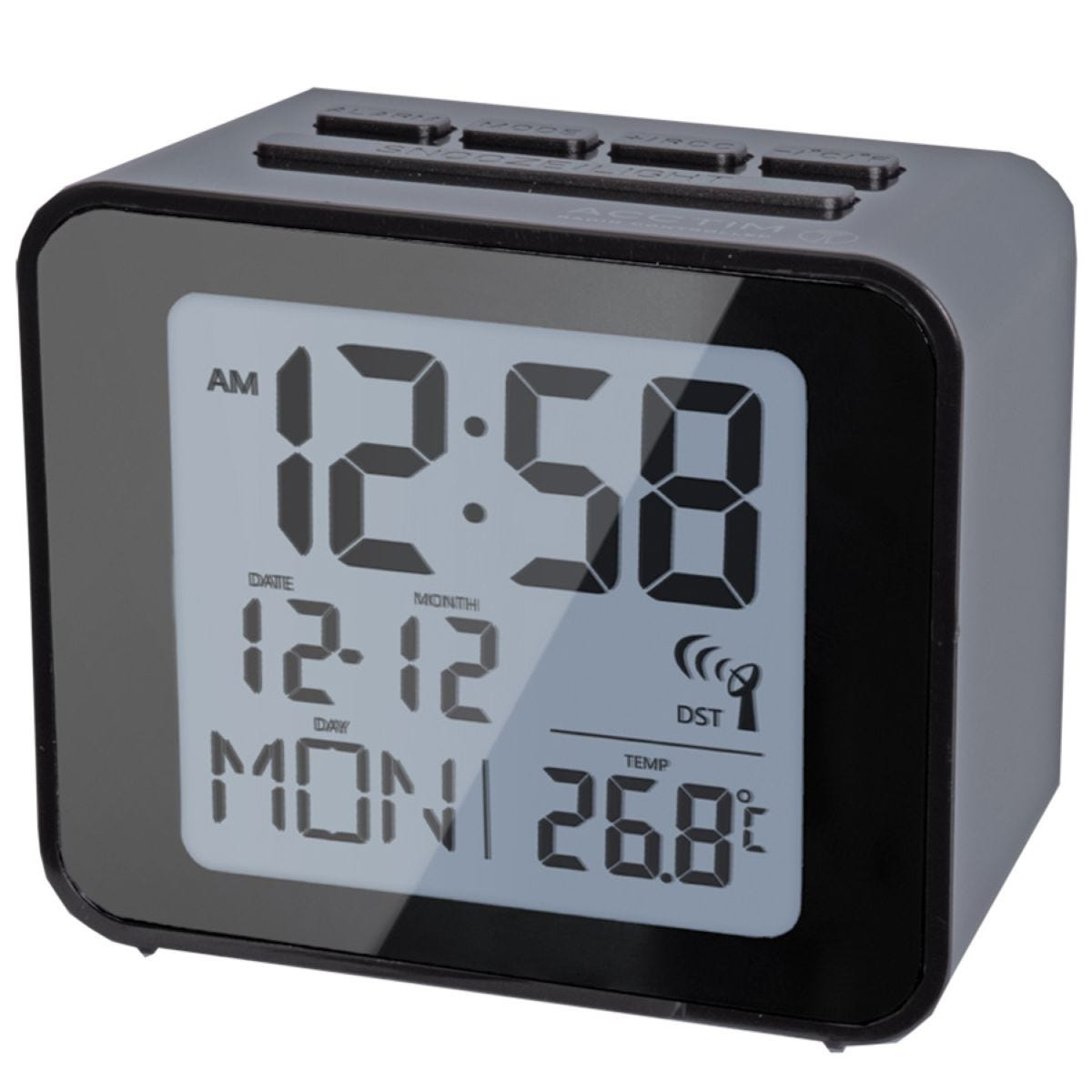 Acctim Radio Controlled Alarm Clock - Black