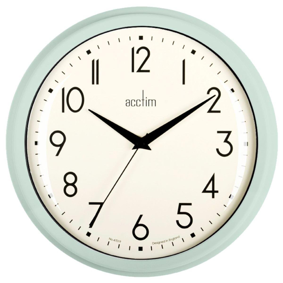 Acctim Elodie Retro Wall Clock - Mint