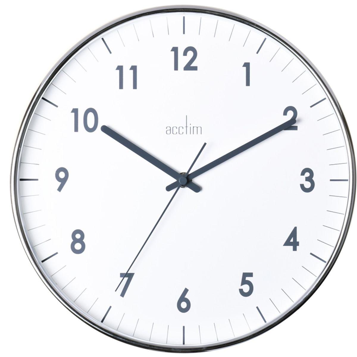 Acctim Jensen Wall Clock - Chrome