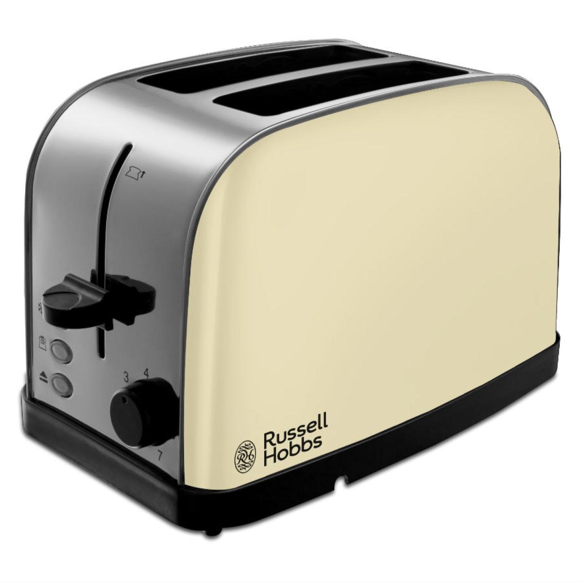 Russell Hobbs 18783 Dorchester 2-Slice Toaster - Cream