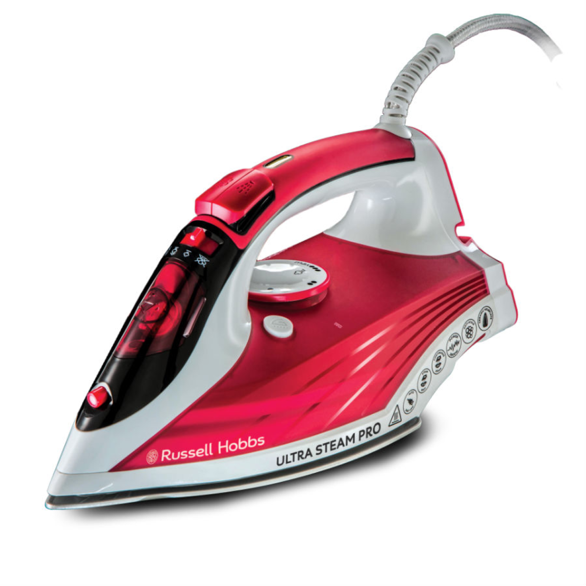 Russell Hobbs 23990 2600W Ultra-Steam Iron - Red