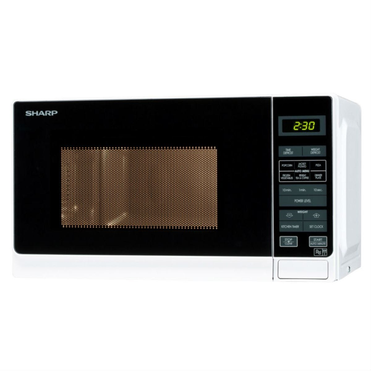 Sharp R272WM 20L 800W Solo Microwave - White