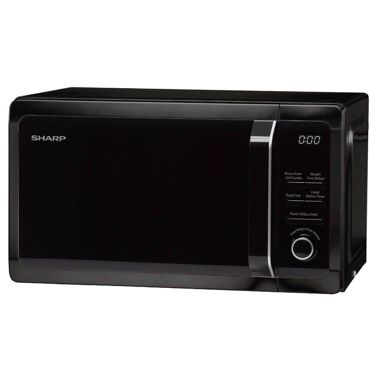Sharp R764KM 25L 900W Digital Microwave with 1000W Quartz Grill - Black