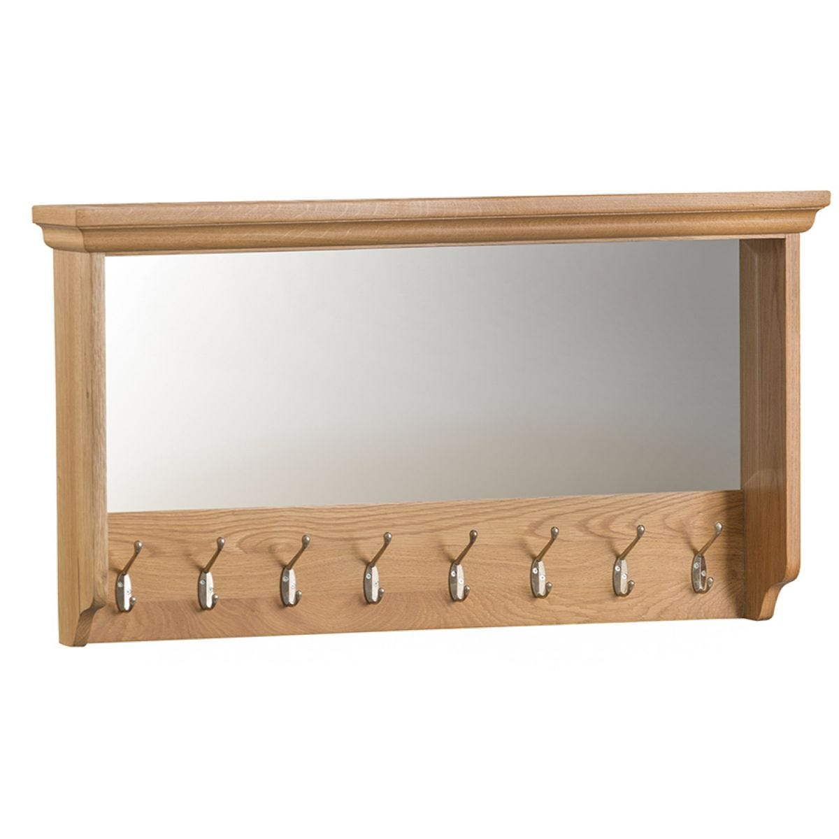Hindsley Ready Assembled Hall Coat Hooks with Mirror