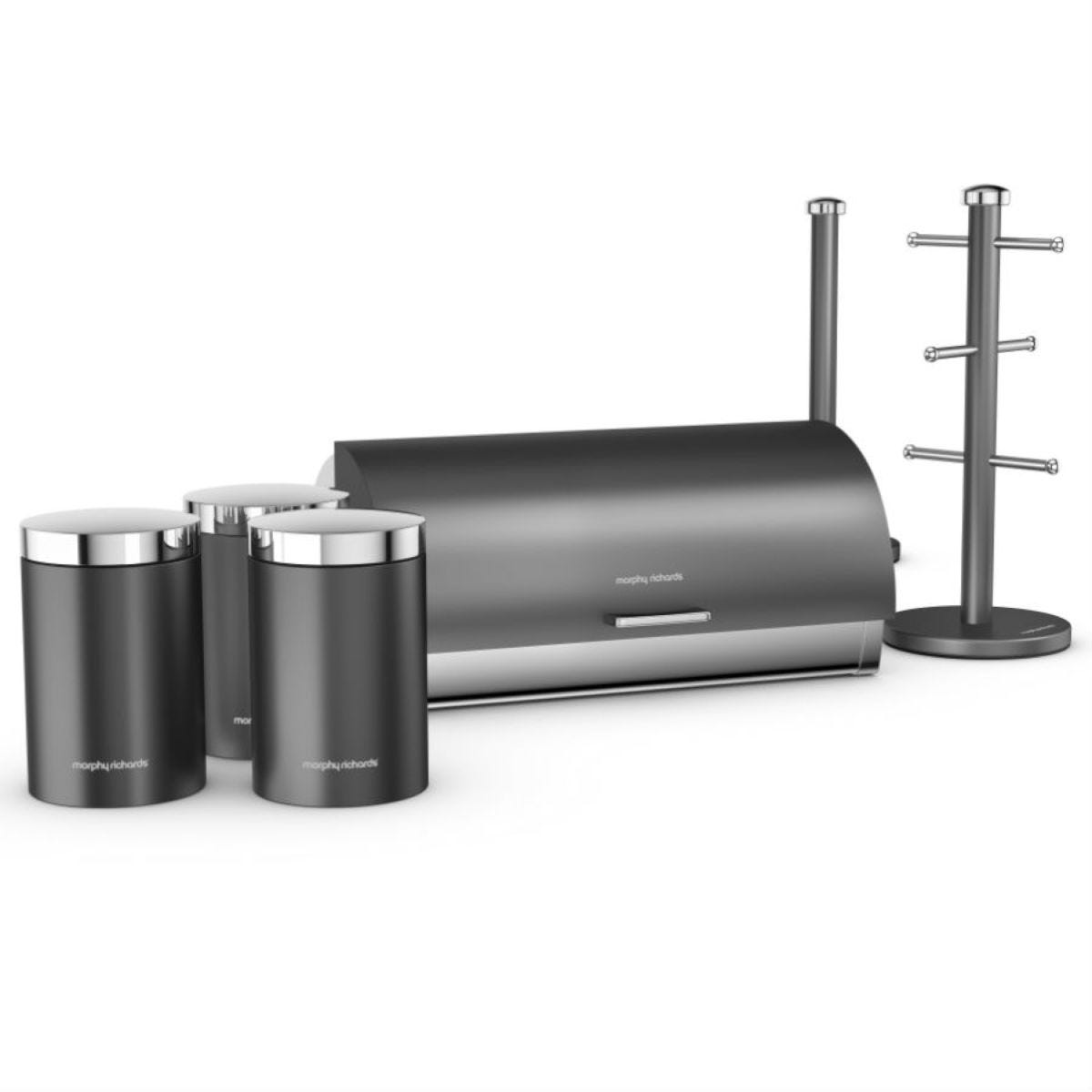 Morphy Richards Accents 6-Piece Kitchen Storage Set - Titanium