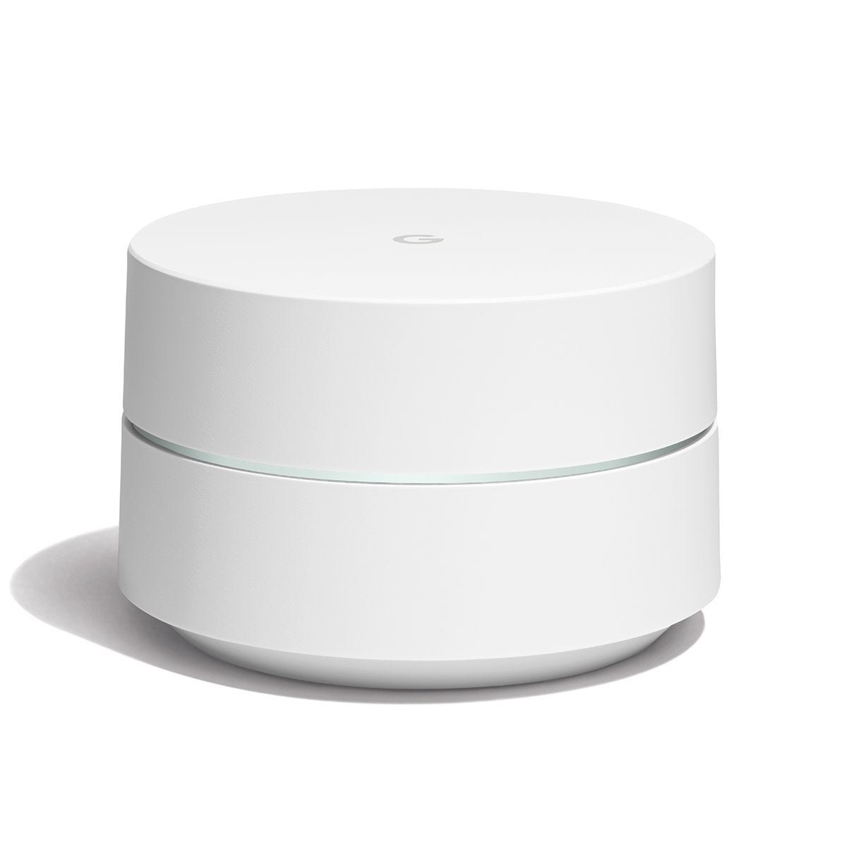 Google Wifi Whole Home Wi-Fi System, 4GB eMMC Flash Storage, 512MB RAM - 1 Pack