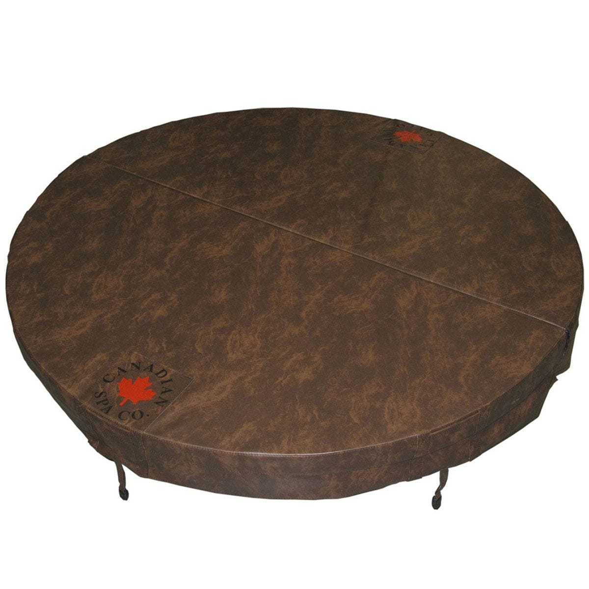 Canadian Spa Round Hot Tub Cover - Brown