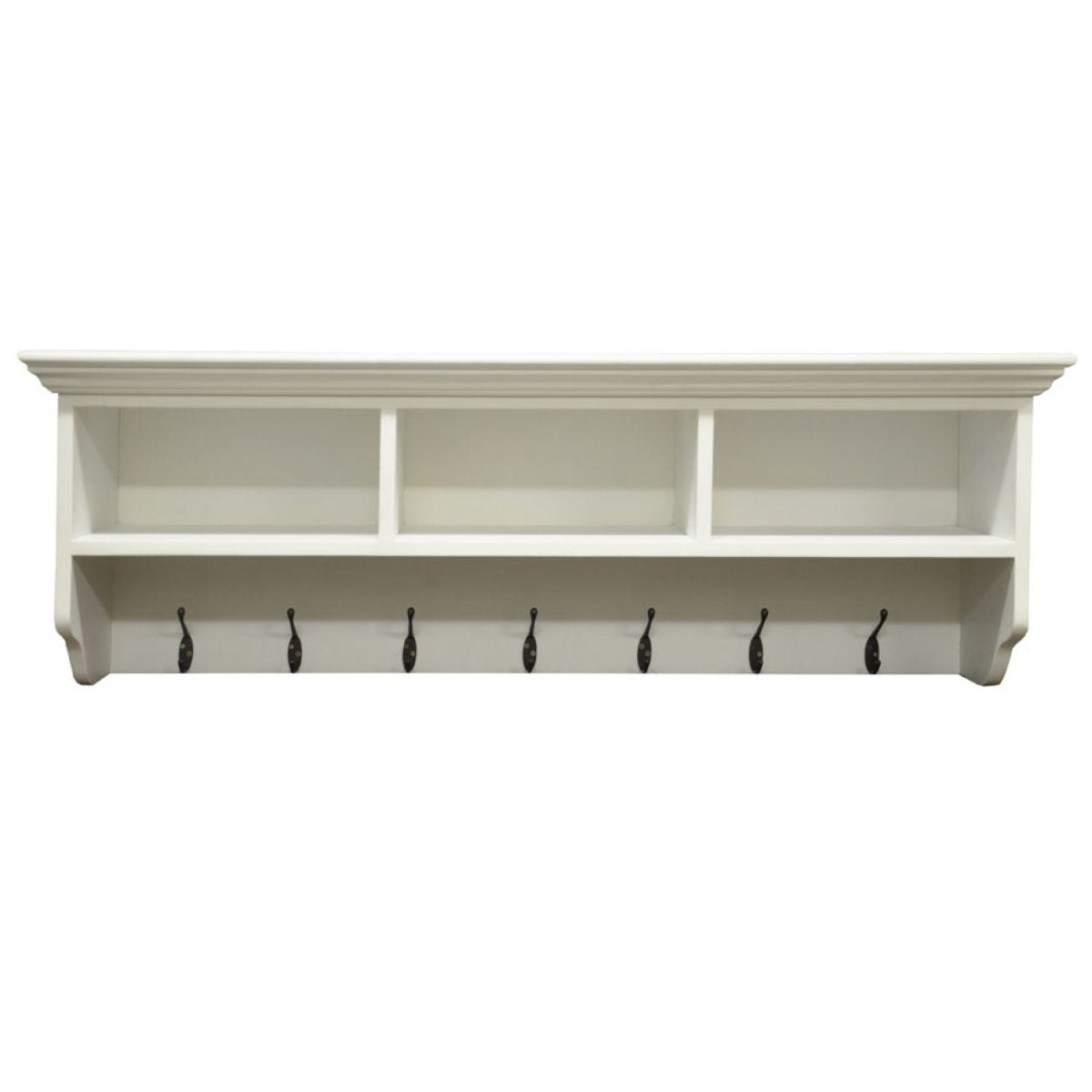 Large Hallway Coat Rack With Shelf and 7 by