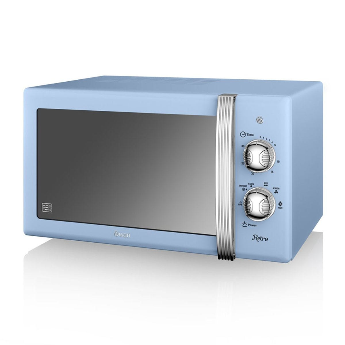 Swan Retro SM22130BLN 800W 20L Manual Solo Microwave - Blue