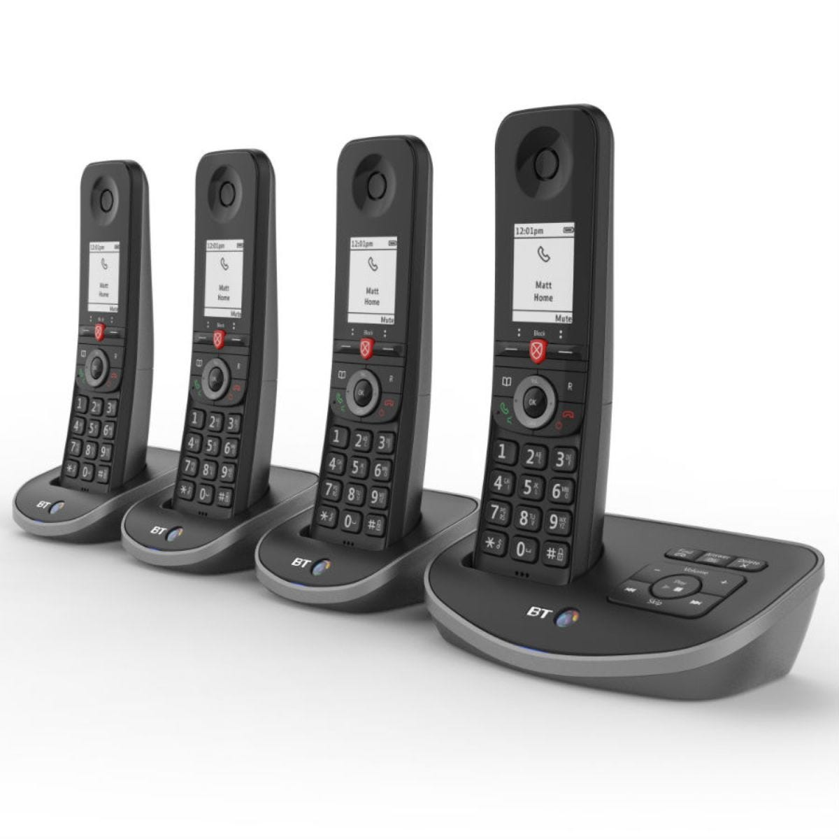 BT Advanced Cordless Home Phone with Nuisance Call Blocking and Answering Machine - Quad