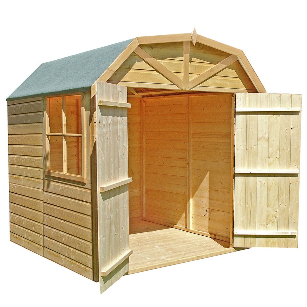 Shire 7' x 7' T&G Wooden Garden Barn Shed