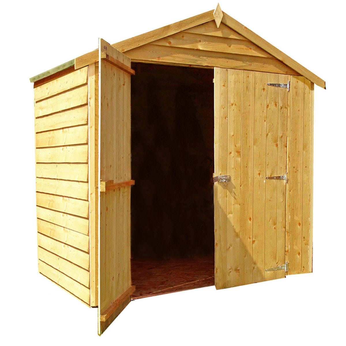 Shire Overlap 6ft x 4ft Wooden Apex Garden Shed