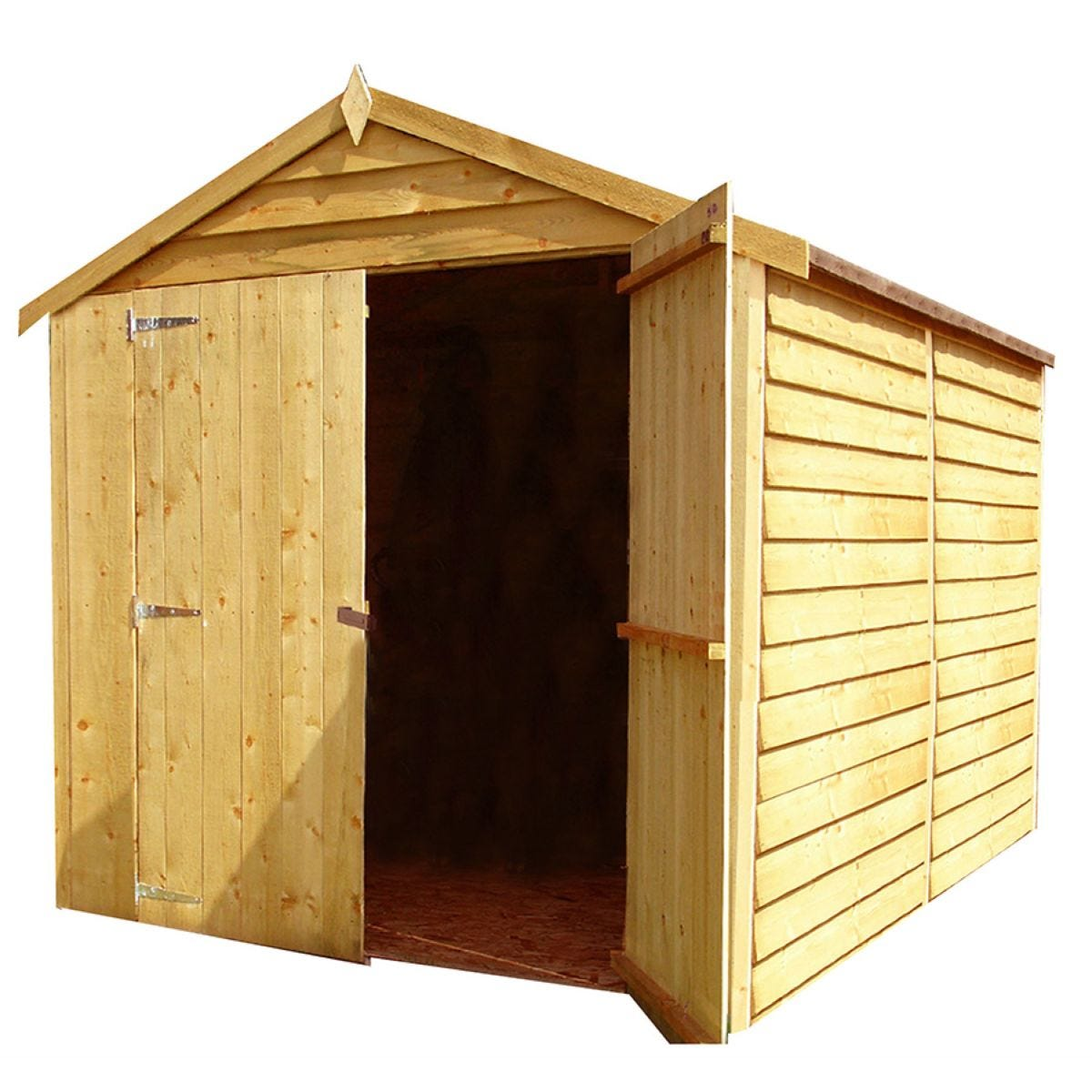 Shire Overlap 6ft x 8ft Wooden Apex Garden Shed