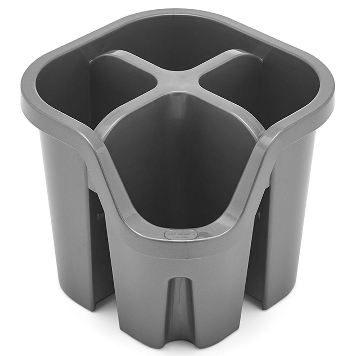 Addis Plastic Cutlery Drainer - Metallic Grey