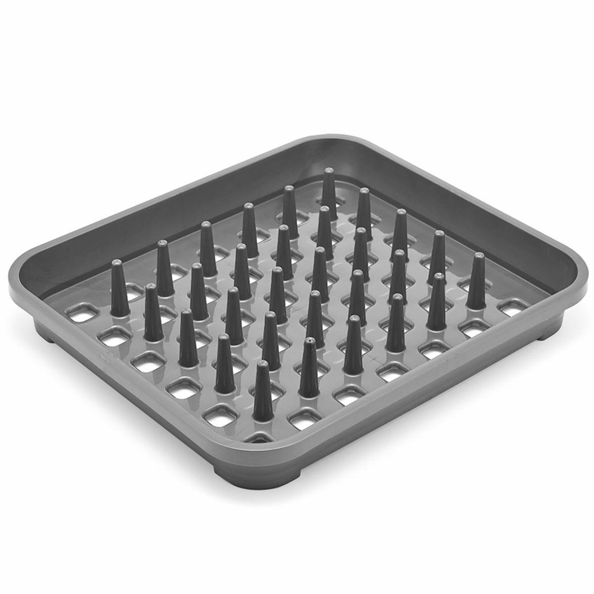 Addis Plastic Dish Drainer - Metallic Grey