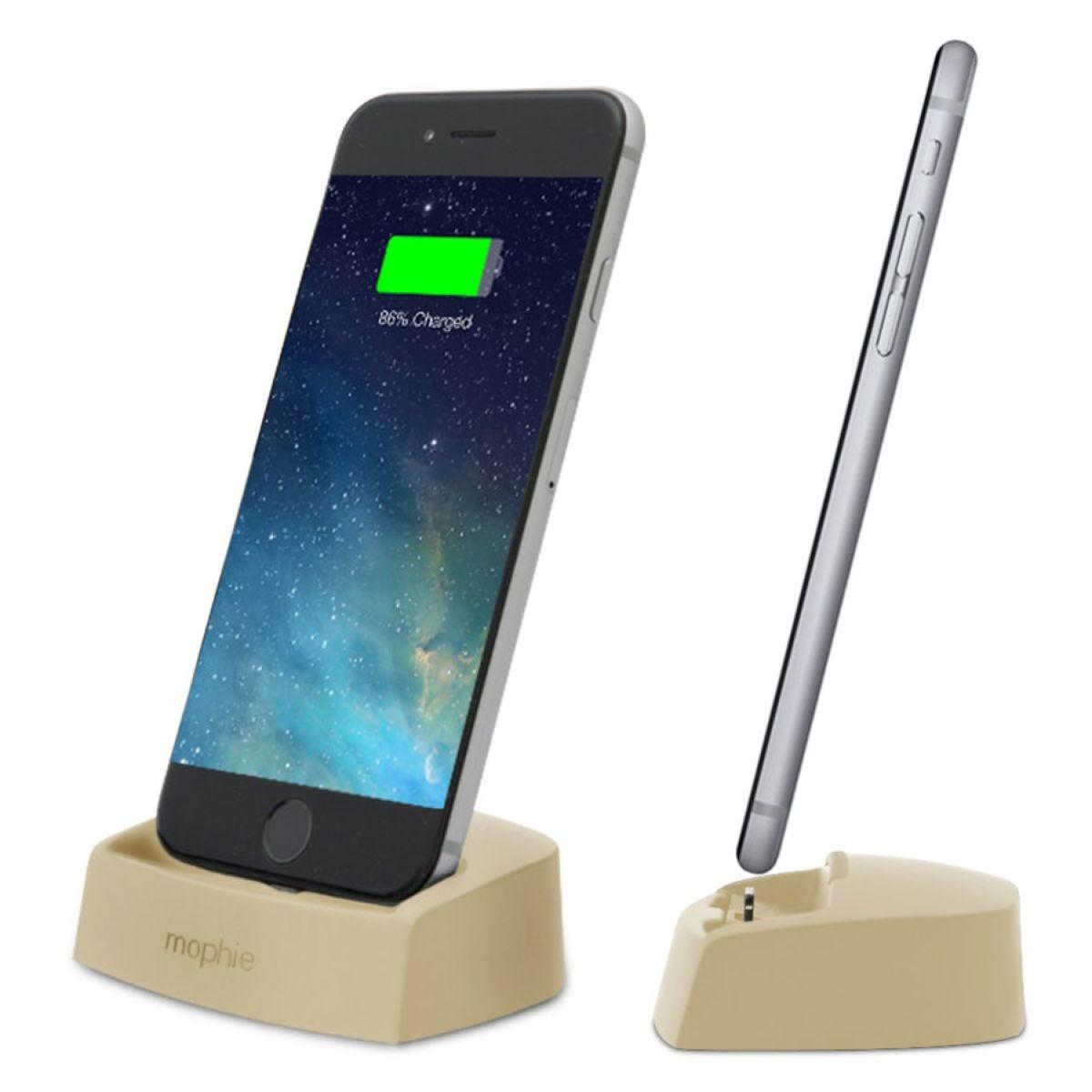Mophie Desktop Dock Lighting Charger for iPhones - Gold