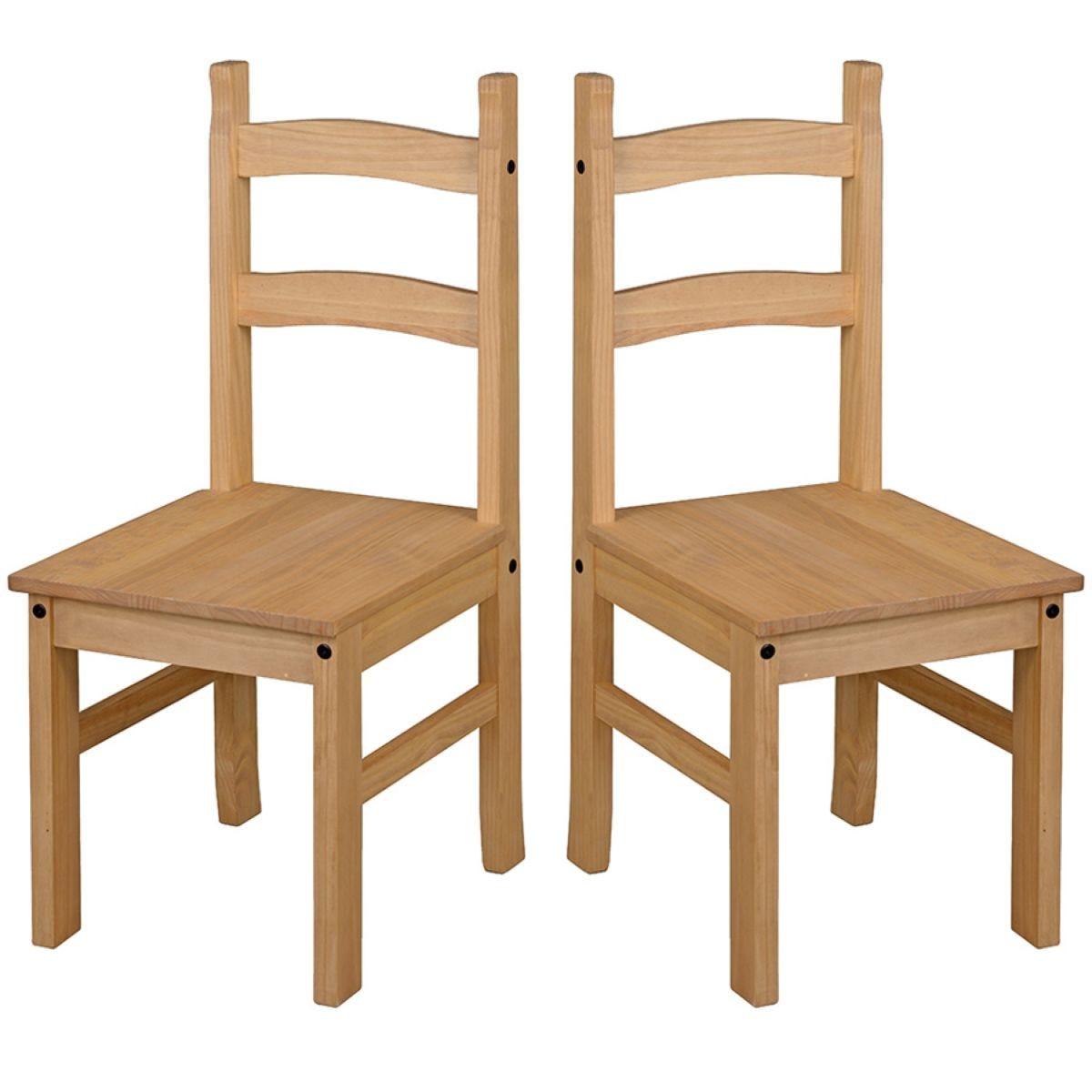 Halea Pair of Pine Dining Chairs