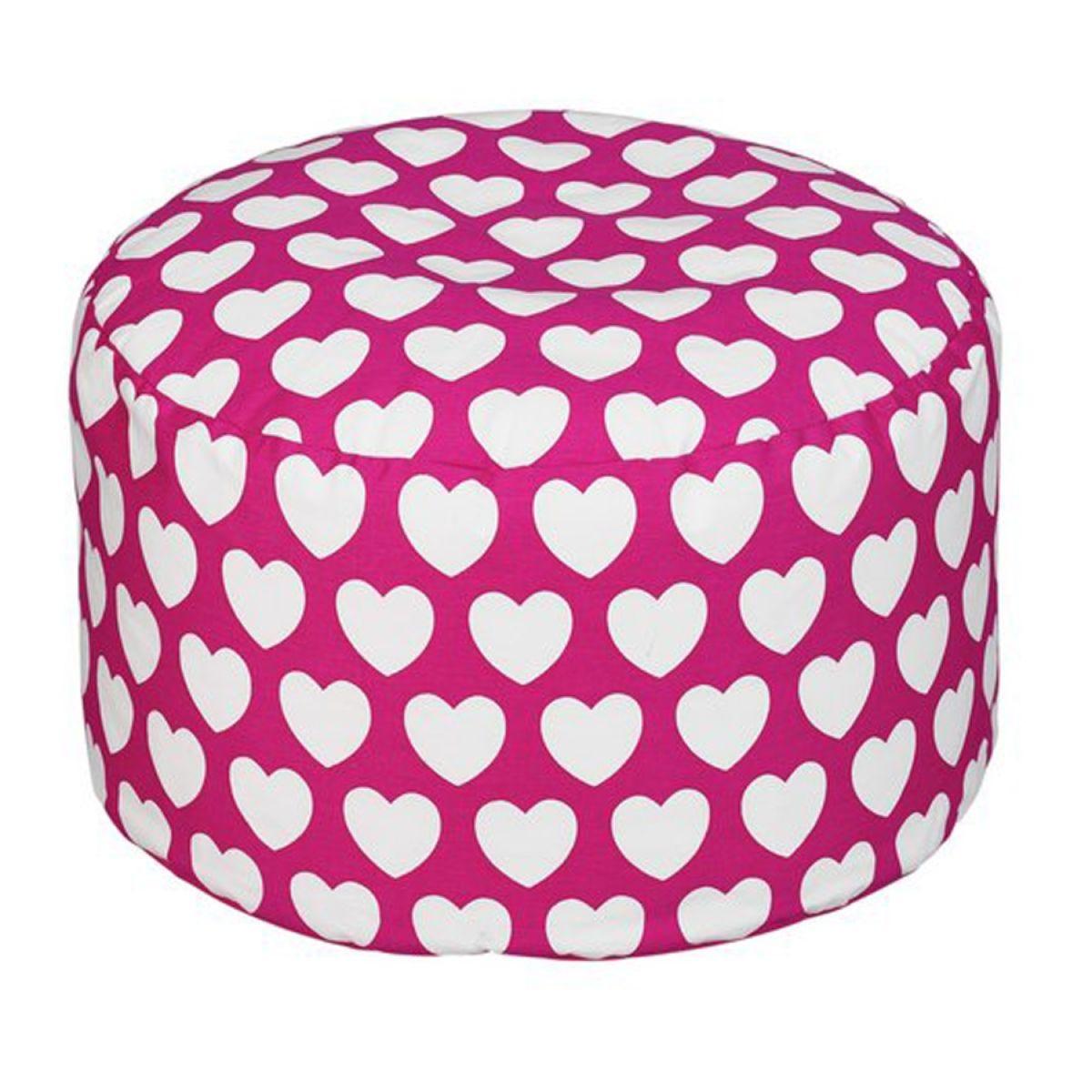 Kaikoo Pink Heart Footstool