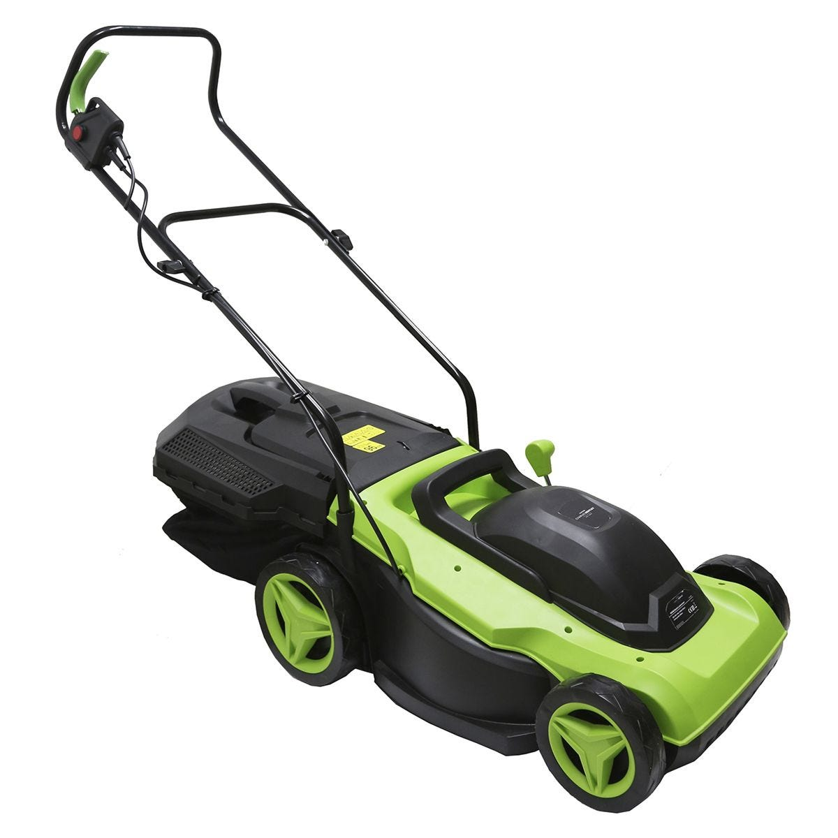 Charles Bentley 38cm Electric Wheeled 1800w Lawnmower with 50l Collection Bag