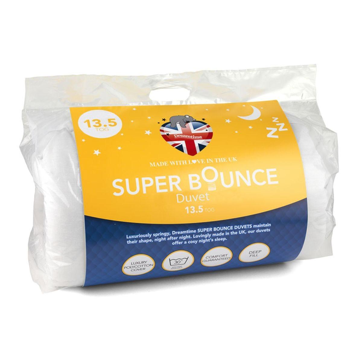 Dreamtime Super Bounce 13.5 Tog Duvet - White