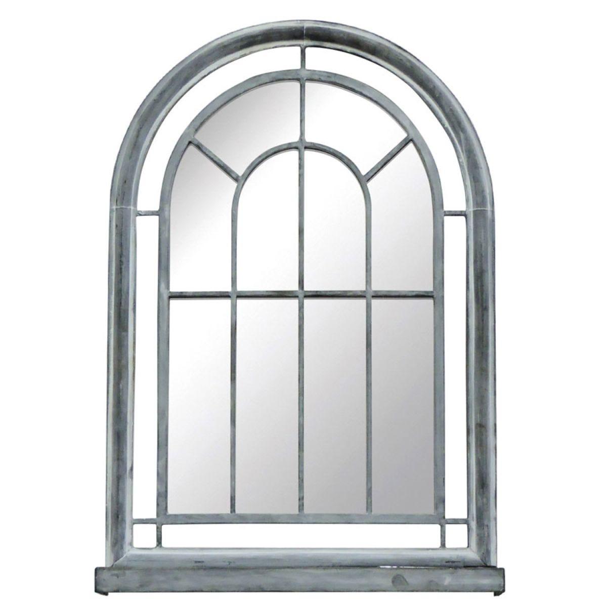 Charles Bentley Grey Arched Mirror
