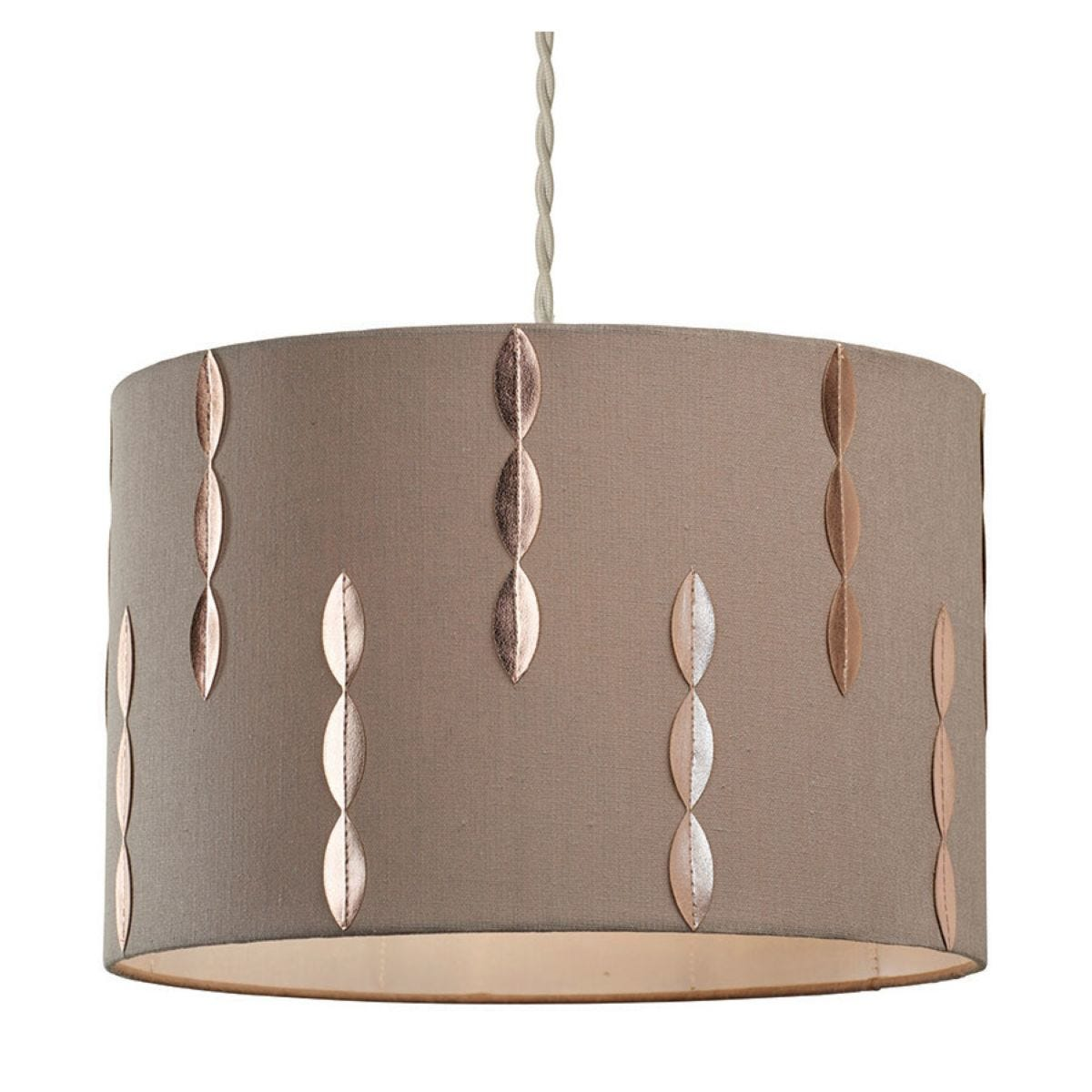 Village At Home  Louie Light Shade - Beige/Copper