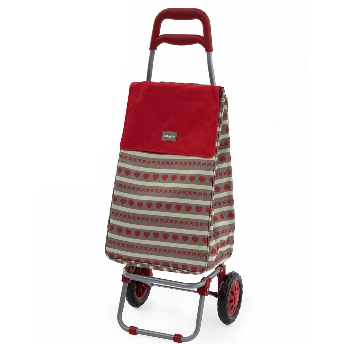 Sabichi Home Bistro Red 2 Wheel Shopping Trolley