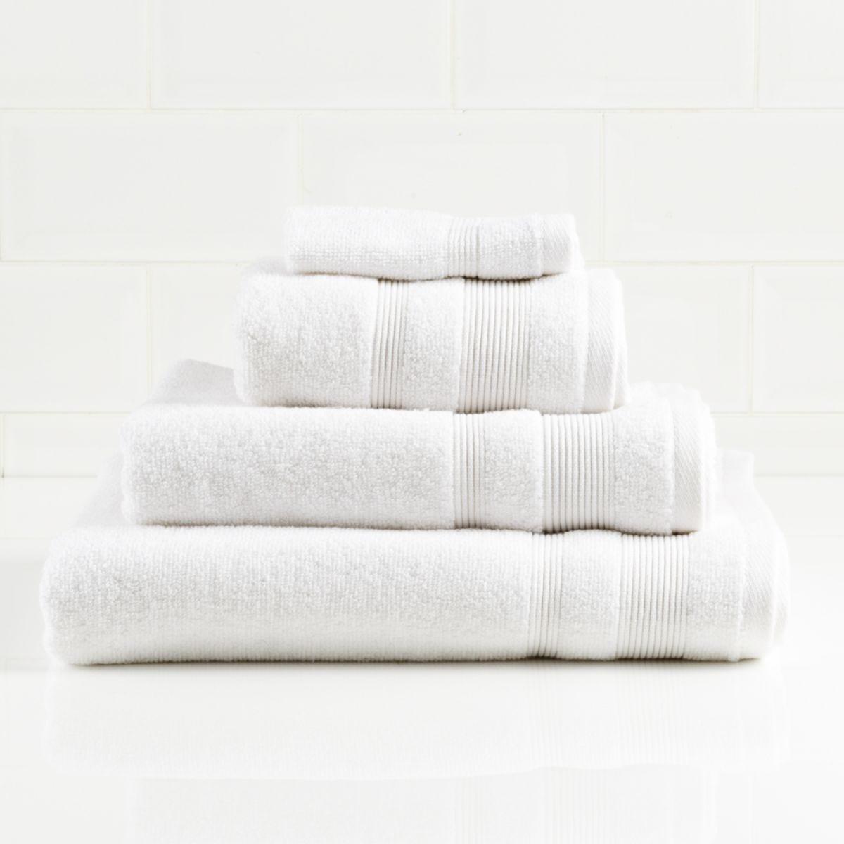 Allure Zero Twist Hand Towel - White