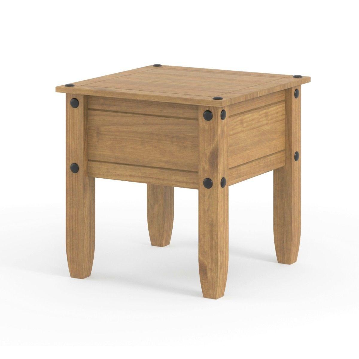 Halea Small Pine Side Table