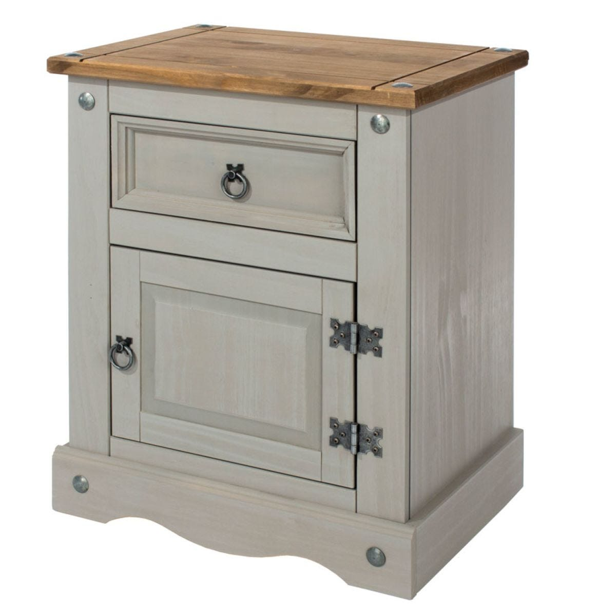Halea 1-Drawer, 1-Door Bedside Cabinet - Grey
